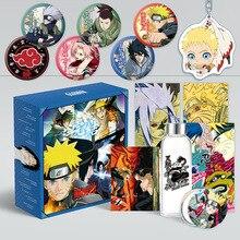 1Pc Anime Naruto Comic Set Sasuke Bookmark Postcard Sticker Poster Luxury Gift Box Anime Around