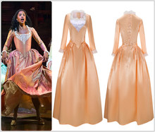 Hamilton Angelica Costume Dress Colonial Lady Corset-Style Ball Gown Victorian Medieval Skirt for Halloween