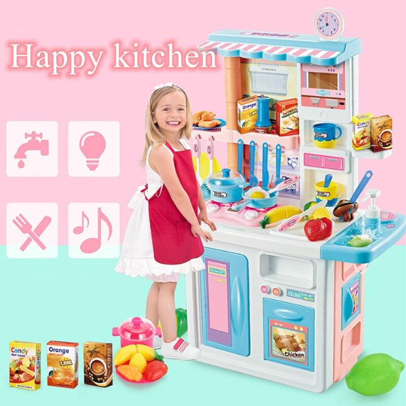 Детский Большой кухонный набор, ролевые игры, игрушки для готовки, миниатюры еды, игрушки для дома, развивающие игрушки, подарок для девочек,