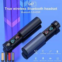 For HBQ Q67 Bluetooth 5.0 Earbuds TWS Pull Type Intelligent LED Screen Wireless Stereo Earphone with Power Charging Case(China)