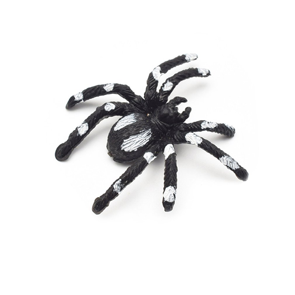Simulation Spider Toy Trumpet Flower Spider Black Horror Scary Spider Model Fake Spider Whole Person Toy