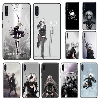 Game YoRHa No.2 Type B Phone case For Samsung Galaxy A 3 5 8 9 10 20 30 40 50 70 E S Plus 2016 2017 2018 2019 black luxury cover image