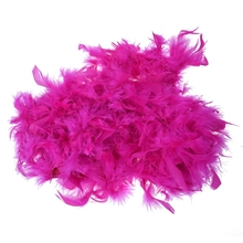 2m Feather Boas Fluffy Craft Costume Dressup Wedding Party Home Decor(Hot Pink