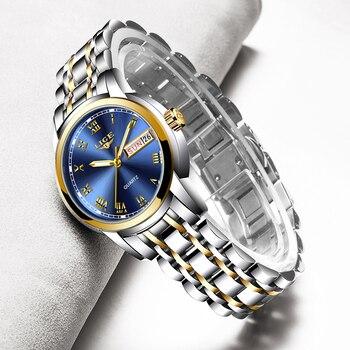 LIGE-reloj de marca de lujo para mujer, de cuarzo, sencillo, resistente al...