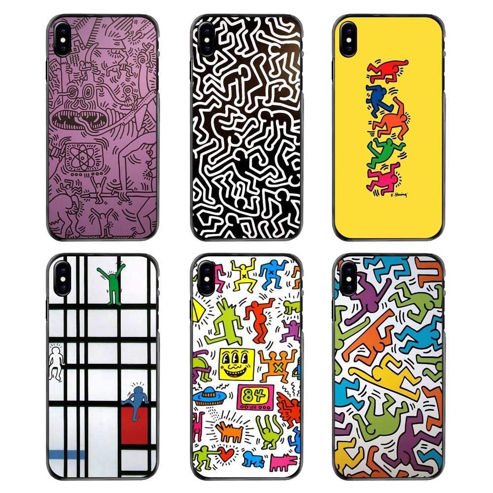 Phone Covers Keith Haring Works Pattern Art Colorful Print For iPhone 4 4S 5 5S 5C SE 6 6S 7 8 Plus X XR XS Max iPod Touch 4 5 6