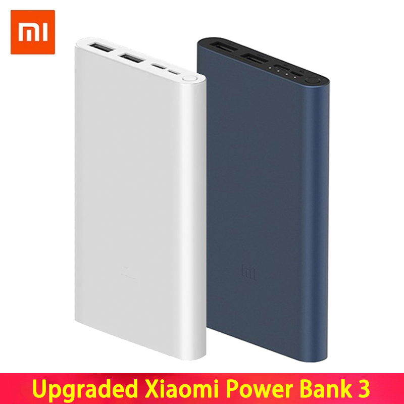 Xiaomi <font><b>Mi</b></font> <font><b>Power</b></font> <font><b>Bank</b></font> 3 10000mAh External Battery <font><b>Bank</b></font> 18W Quick Charge Powerbank <font><b>10000</b></font> with USB Type C for Mobile Phone image