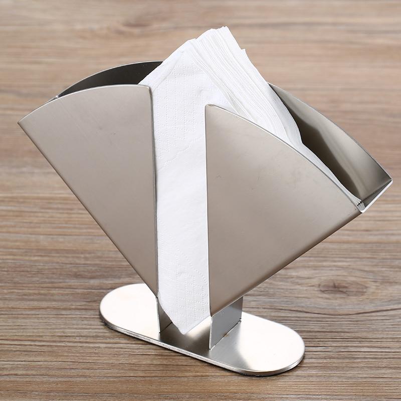 Stainless Steel Napkin Holder Paper Serviette Dispenser Vertical Decorative Tissue Rack Box for Dining Table Kitchen Home Decor