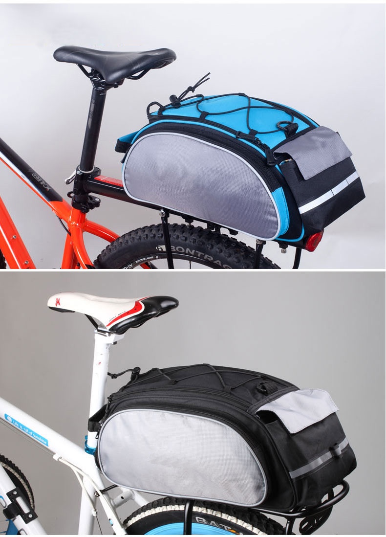 ROSWHEEL Bicycle 13L Carrier Bag Bike Rack Pannier Trunk Basket Back Seat Shelf Pouch Cycling Luggage Shoulder Handbag 14541