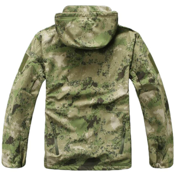 Sniper Camouflage Hunting Clothes Ghillie Suit Outdoors Camping Hiking Waterproof Windbreaker Softshell Fleece Jacket + Pants 4