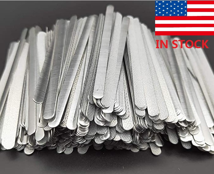 100/200/500PCS Mas*k DIY Nose Wire Nose Clip Bridge Metal Flat Aluminum Bar Strip Trimming Crafts Making Accessories