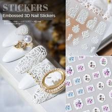 1pcs Latest 3D Nail Art Sticker 5D Retro Embossed Bohemian Style Nail Art Decal Decoration Tool AE006