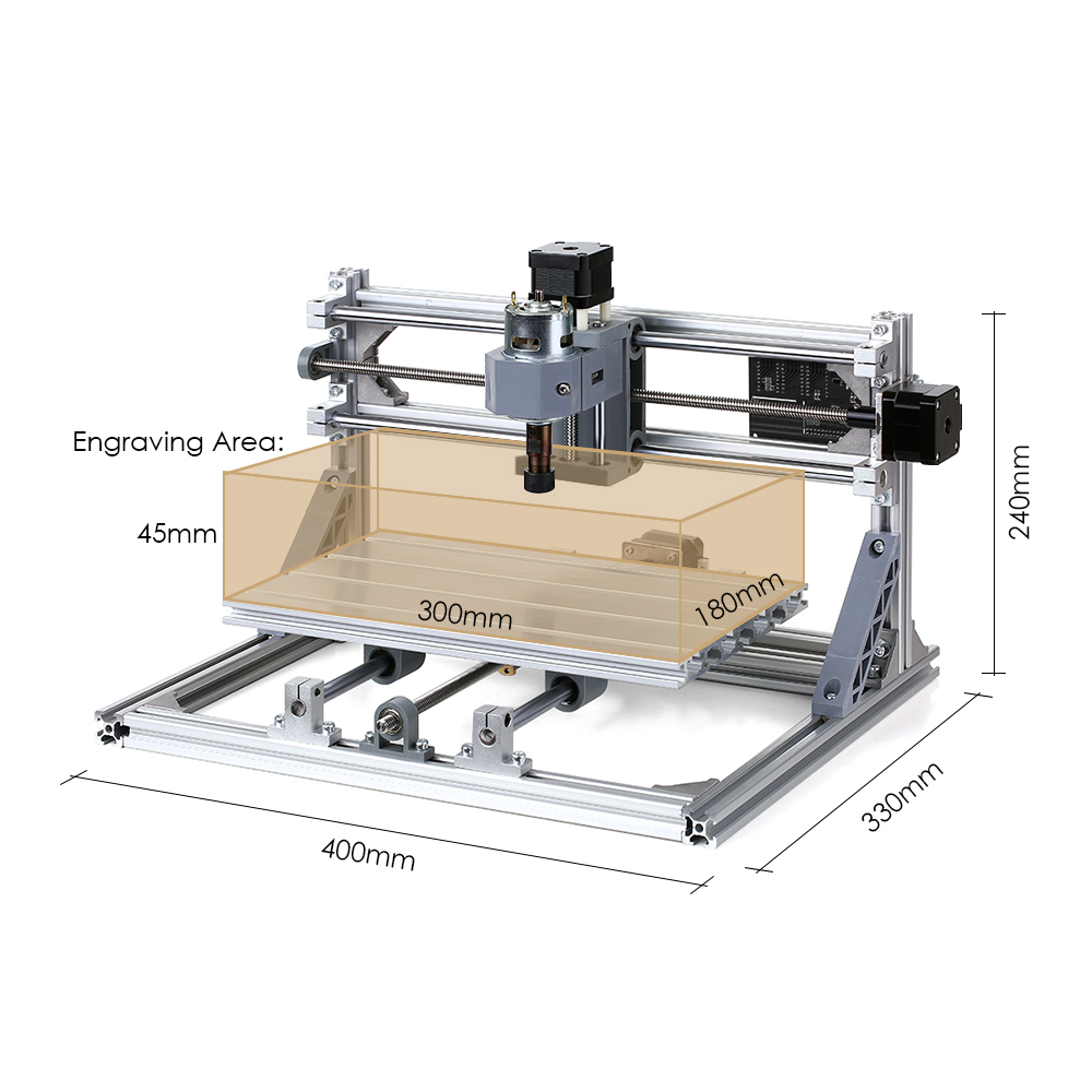 CNC 3018 PRO DIY Router 2IN1 Engraving Wood Milling Kit with 5500mw Laser Head