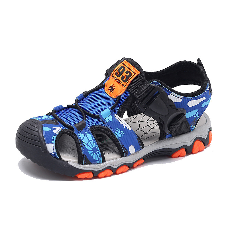 Kids Boys Sandals Spider Boys Summer Shoes Water Beach Kids Sandals Flat Heel Children Casual Shoes Close Toe Sandals For Boy