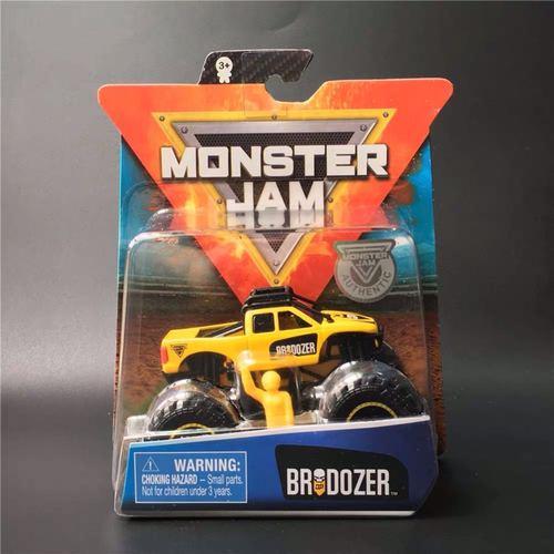 1: 64 оригинальные горячие колеса гигантские колеса Crazy Barbarism Монстр металлическая модель грузовика игрушки Hotwheels большая ножная машина детский подарок на день рождения - Цвет: Brodozer Monster Jam