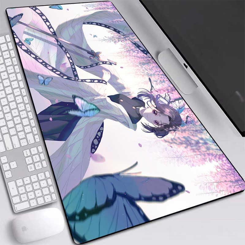 shinobu tapis de souris kochou xxl antiderapant avec bords cousus chauffant durable pour les fans d anime