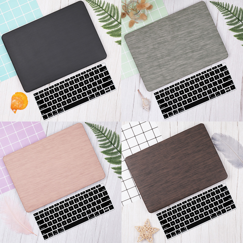 Woven Pattern Laptop Case For Apple MacBook Pro Retina Air 11 12 13 15 Inch Touch Bar 2019 2018 Shell Sleeve + Keyboard Cover