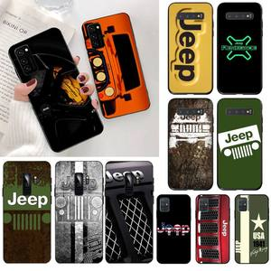 Super Jeeps Car Logo Newly Arrived Black Cell Phone Case for Samsung S20 plus Ultra S6 S7 edge S8 S9 plus S10 5G lite 2020