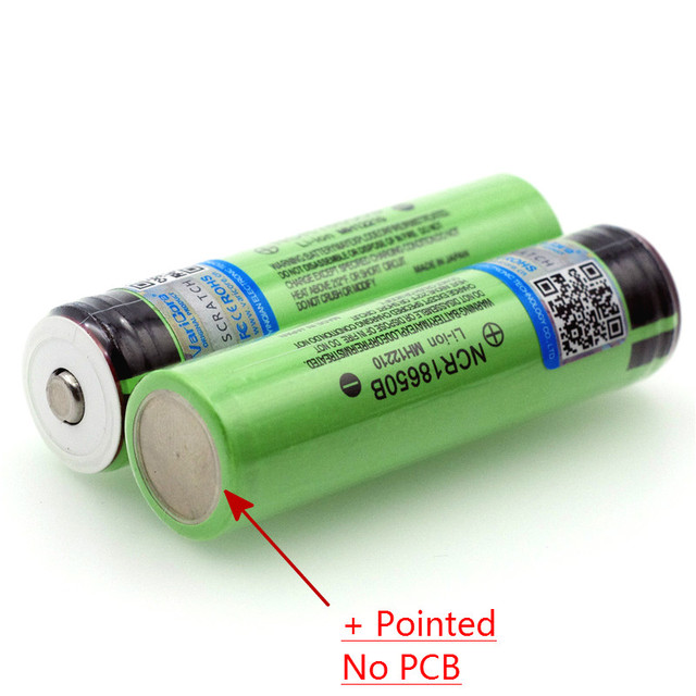 2021 New Original 18650 3.7 v 3400 mah Lithium Rechargeable Battery NCR18650B with Pointed (No PCB) batteries +Box 3