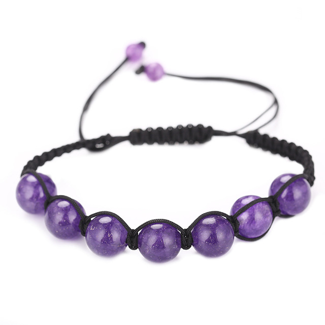Natural Amethyst HandmadeBracelet Turquoise Crystal Beads Real  Stone Styles Beaded Bracelets For Men Women Best Friends