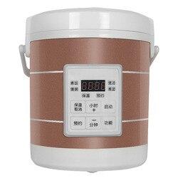 12V 24V mini kuchenka do ryżu samochód ciężarówka zupa owsianka urządzenie do gotowania parowar podgrzewany elektrycznie pudełko na lunch posiłek podgrzewacz cieplej|Urz. do gotowania ryżu|AGD -