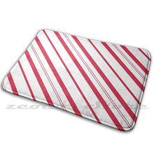 ? Белые и красные полоски конфетного тростника? Коврик Противоскользящий коврик для впитывания воды, дверной коврик, белый, красный, белый и ...