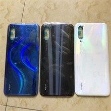 100% orijinal cam Xiaomi CC9 pil kapağı durumda yedek parça Xiaomi CC9E/A3 pil arka kapak kapı telefon konut Case