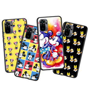 Image 2 - Mickey and Minnie cute for Xiaomi Redmi Note 10 10S 9 9T 9S 9Pro Max 8T 8Pro 8 7 6 5 Pro 5A 4X 4 Soft Black Phone Case