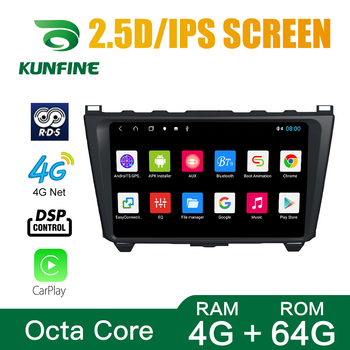 Octa Core 1024*600 Android 10.0 Car DVD GPS Navigation Player Deckless Car Stereo for Mazda 6 Core-wing 2008 2009 2010-2014 image