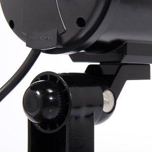 Image 4 - Dummy מצלמה 4 חבילה חיצוני מזויף Dummy אבטחת מצלמה LED אור CCTV מעקב שווא מצלמה שחור