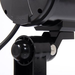 Image 4 - Kukla kamera 4 paket açık sahte kukla güvenlik kamera LED ışık CCTV gözetim yanlış kamera siyah