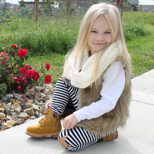 2019  Winter furry vest for girls Kids Baby Girl Winter Warm fashion Clothes Faux Fur Waistcoat Thick Coat Outwear baby girl winter clothes fur vest girls kids winter clothes clothes winter girls fur vest kids