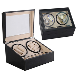 Image 2 - High End Automatic Watch Winder Box 4+6 Watches Storage Jewelry Holder Display PU Leather Watch Box Ultra Quiet Motor Shaker Box