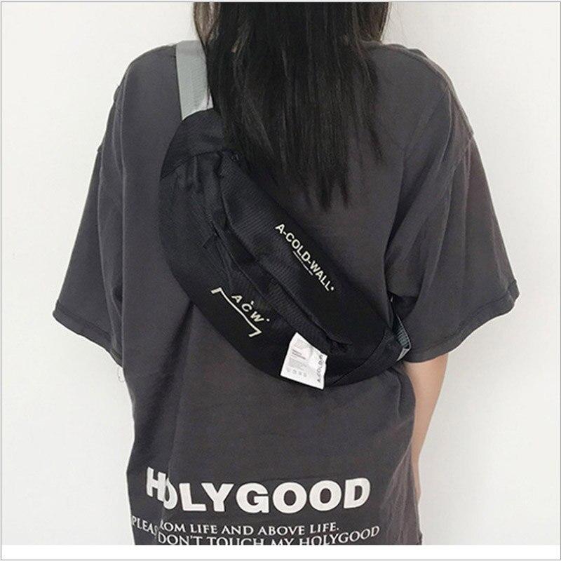 Casual Messenger Waist Bag Female Ins Trend Summer Student Shoulder Bag 2020 New Fashion Wild Lightweight Chest Bag Canvas Bag