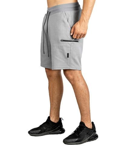 Mens Shorts Summer Casual Shorts Men Jogger Workout Short Pants With Zipper Packets