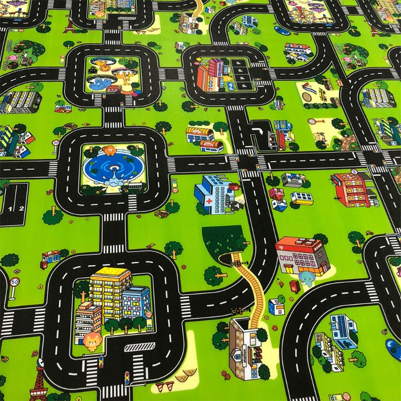 Extra Extra Large Foldble Waterproof Crawling Mat, City Life Great For Playing With Cars And Toys, Children Educational Road For