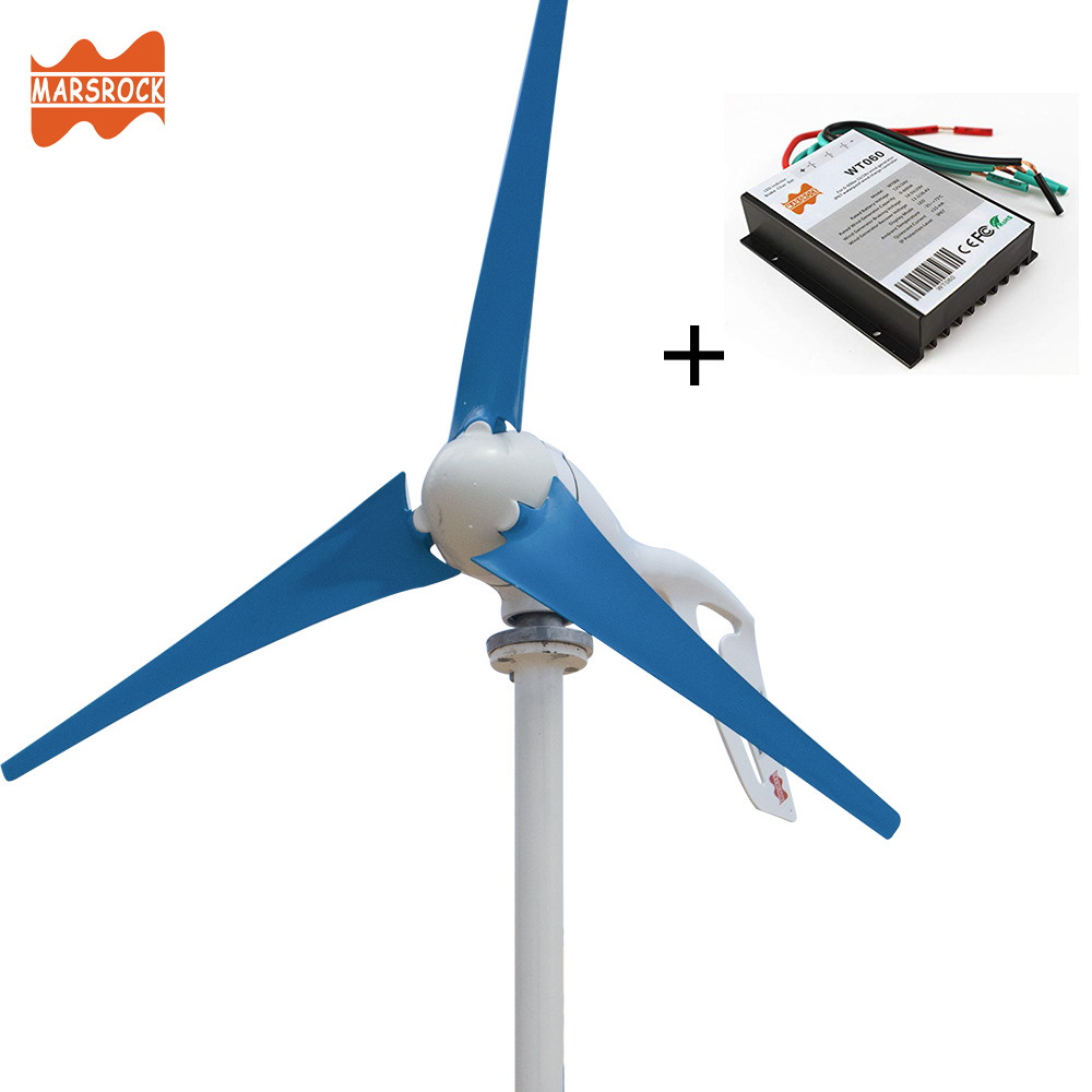 Hf9c40f92bedc4e25ad0fc8d5dff47a98b - Small Wind Turbine Generator 400W Mini Windmill WindTurbine Controller 3/5/6 blades Home gerador eolico Charge for Marine Boat