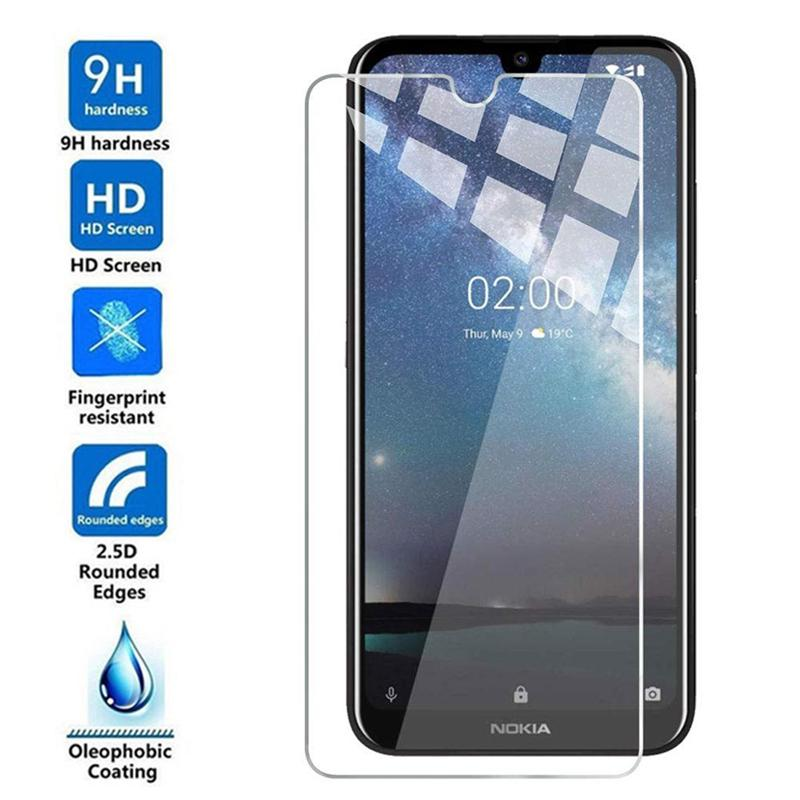 2PCS Tempered Glass For Nokia 7.2 Glass Screen Protector For Nokia 3.2 3.2 4.2 6.2 7.2  Protective Glass Film