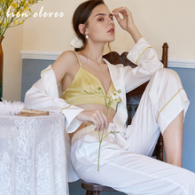 Pajamas Set Sexy Satin Silk Sleepwear Lingerie Spring Autumn Fashion Pajamas for Women