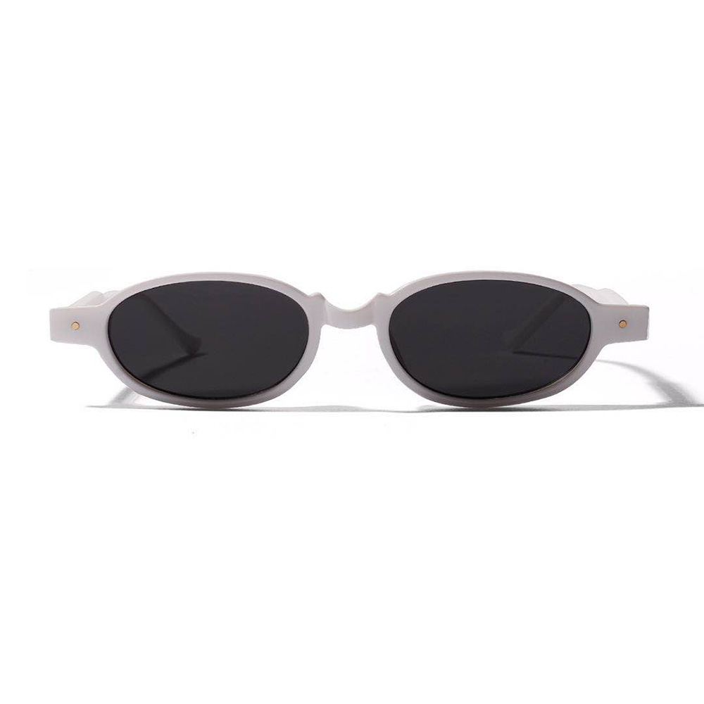 Studded oval fashion small frame sunglasses female super light cool personality punk rock glasses male street shooting decoratio