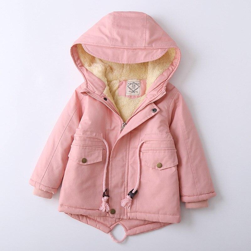 Winter Fleece Jackets For Boys Trench Children's Hooded Warm Kids Boy Outerwear Windbreaker Baby Kids Jacket for girls Coats 6