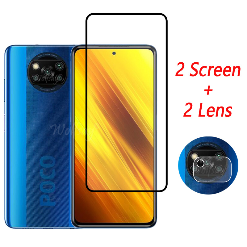 Full Cover Tempered Glass For Xiaomi Poco X3 NFC Screen Protector For Xiaomi Poco X3 NFC Camera Glas