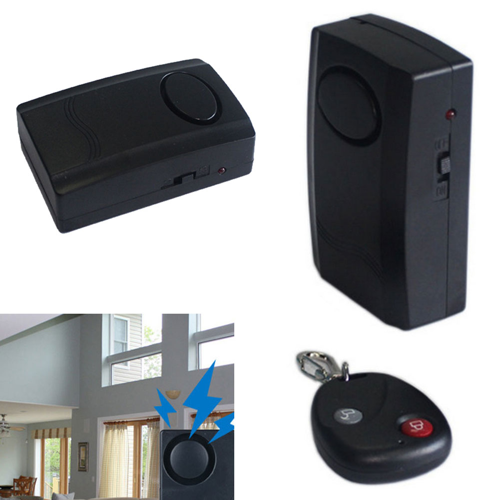 Motorcycle Motorbike Scooter Anti-theft Security Alarm With Remote Control Vibration Alarm Keychain For Door /Window