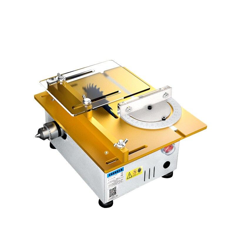 Aluminum Miniature Table Saw High Precision DC 24V 9000RPM Cutting Machine DIY Model Saws Precision Carpentry Chainsaw Cutter