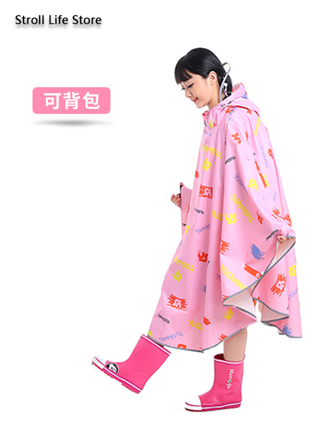 Pink Girl Rain Poncho Kids Raincoat Hiking Children Adult Long Rain Coat Jacket Bicycle Breathable Chest Waders Partner Gift 5
