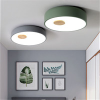 Nordic Loft Holz Acryl LED Decke Lichter Kreative Parlor Küche Master Schlafzimmer Gang Decken Leuchten|Deckenleuchten|Licht & Beleuchtung -