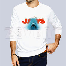 Jaws Movie Vintage Poster Shark Autumn Winter Sweatshirt Men Hoodie New Casual Men's Sweashirts O-Neck Harajuku Sportswear(China)