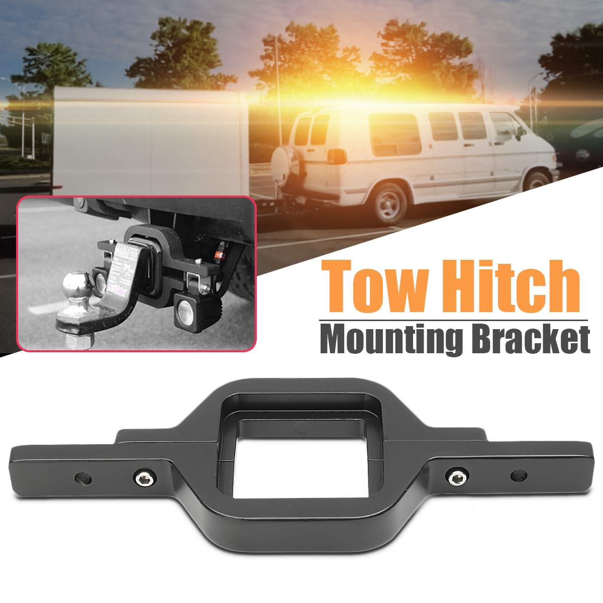 New Universal Car Truck SUV Trailer Tow Hitch Mounting Bracket Holder For Dual LED Backup Light For Audi For Lexus For Ford