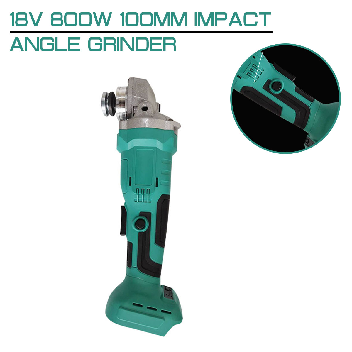 Tools : 18V 800W Brushless 100mm Impact Angle Grinder Without Battery DIY Cordless Power Tool Cutting Machine Polisher For MakitaBattery
