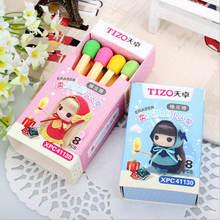 8 шт/лот (1 коробка) милые кавайные спички ластик милый цветной