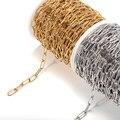Цепочка Из Нержавеющей Стали для изготовления ювелирных изделий «сделай сам», бижутерия, Большой Золотой кабель, аксессуары для браслетов, ...